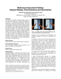 Multi-touch Document Folding: Gesture Models, Fold Directions and Symmetries
